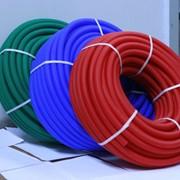 Труба гофрированная ПНД для МПТ д.25мм красная, синяя(50м) фото