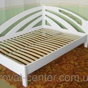 Белый угловой диван из серии Радуга (190\200*80\90\120\140\150\160) массив - сосна, ольха, дуб. фото