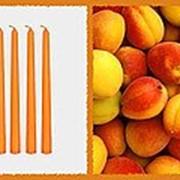 Свеча восковая №100 оранжевая с ароматом абрикоска фото