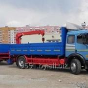 Услуги по перевозке грузов с погрузкой-разгрузкой на объектах - манипулятор 3,5 т фото
