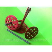 10х120mm дюбель крепления теплоизоляции с ударопрочным пластиковым гвоздём (TERMODUBEL),диск d 70mm (UTD 120 PN) фото