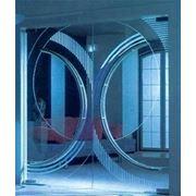 Маятниковые двери из стекла фото