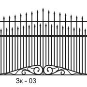 Забор кованый Зк-03 фото