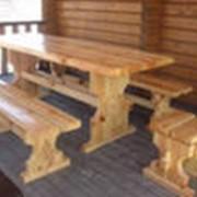 Стол, скамья, кресло садовые фото
