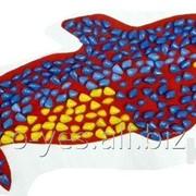 Коврик массажный ортопедический с цветными камнями Дельфин 100 х 40 см фото