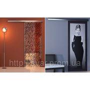 Стеклянные раздвижные двери с рисунком фото