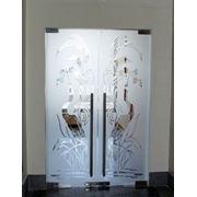 Стеклянная дверь фото