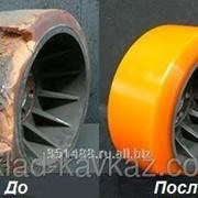 Восстановление полиуретанового покрытия колес и роликов для складской техники фото
