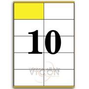 Этикетки самоклеящиеся белые, 10 на листе. размеры: 105 x 57 mm EADZ10 фото