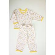 Пижама детская 3655-ф футер, размер 48-80 фото