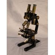 Микроскоп раритетный бинокулярный для наблюдения прозрачных объектов фото