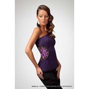 Блузка фиолетовая фото