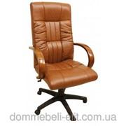 Кресло для руководителя Консул НВ, кожзам коричневый (622-B HIGH-BACK BROWN PU+PVC ,HL018 MECH) фото