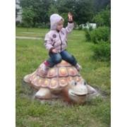 Скульптура из железобетона Черепаха фото