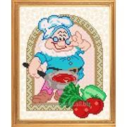 """Рисунок на ткани для вышивания бисером """"Мой рецепт. Готовим стейк"""" VKA4027 фото"""