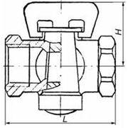 Кран пробковый конусный газовый 11Б34бк фото