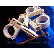 Хомут (обойма) 20-22 mm быстрого монтажа (хомут,зажим) с ударным шурупом для крепления труб и кабелей фото