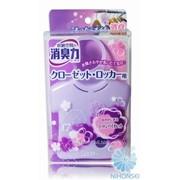 Освежитель воздуха ST Shoushuuriki для шкафов на основе желе-сенсора с ароматом фиолетового хлопка 32г 4901070121373 фото