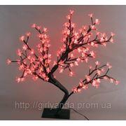 Светодиодное дерево «ЦВЕТУЩАЯ САКУРА» 45см, красное фото