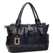Женская сумка из искусстевенного материала, мото-стайл фото