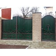 Ворота металлические на заказ фото