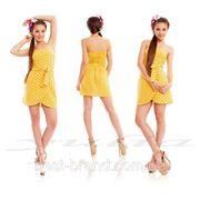 Платье роса короткое пояс завязка фото