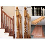 Элементы лестниц (ступени, балясины, столбы…) из бука и дуба. фото