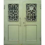 Металлические двери двух-створчатые фотография