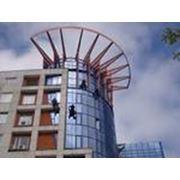 """ТОО """"ЭТОС Строй Сервис"""" высотные работы, ремонт фасадов, мойка витражей, диагностика уровня аварийности. фото"""