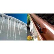 Монтаж нагревательных систем водостоков фото