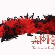 Боа красное с черными кончиками фото