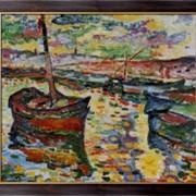 Картина Лодки в Коллиуре, Брак, Жорж фото
