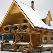 Дома и коттеджи, дачные домики из оцилиндрованного бревна фото
