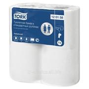 T4 - Tork туалетная бумага в стандартных рулонах - 4 рул/уп, 184 л/рул, 2 слоя фото