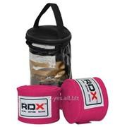 Бинты боксерские RDX Fibra Pink 4.5m фото