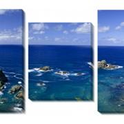 Модульная картина Скалы и море, Неизвестен фото