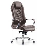 Кожаное кресло руководителя Аура фото