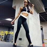 Спортивный комплект для фитнеса, танцев, йоги. Топ/леггинсы фото