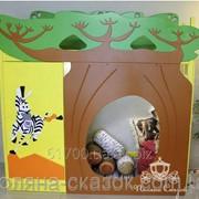 Кровать - чердак с мебелью и игровой Баобаб. Ольха, ясень, МДФ. фото