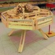 Изготовление торгового оборудования из натуральной древесины под заказ фото