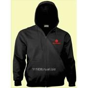Толстовка Suzuki черная вышивка красная фото