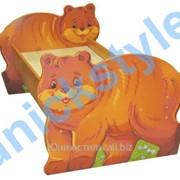 Кровать детская Мишка 144х85х72 фото