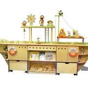 Стенка для игрушек Кораблик (фанера) 1_17Б фото