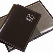Обложка для паспорта из натуральной кожи «Люкс», формат 140х100 мм, внутри пластиковые карманы фото