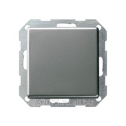 Выключатель Gira в сборе с вертикальной клавишей коллекция E22, G012120, одноклавишный, сталь фото