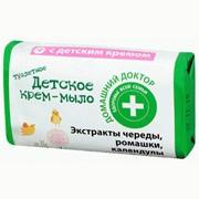 Крем-мыло Домашний доктор детское череда, ромашка, календула 70 г фото
