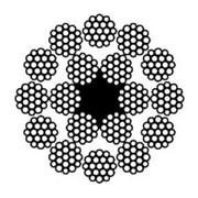 Канат стальной двойной свивки многопрядный ГОСТ 16828-81 фото