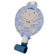 Язычки-гудки с карточкой голубые С днем Рождения, Малыш! фото