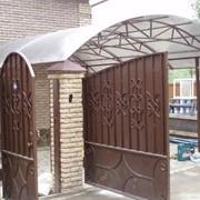 Ворота металлические с калиткой фото