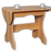 Стол обеденный раскладной с откидной столешницей СО-02, 1400х600х740, 760х600х740 фото